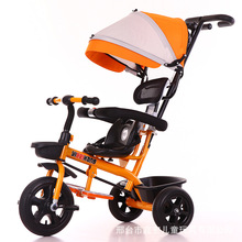 NEW Child Tricycle Baby Trolley Push with Hood Baby Stroller New 4 In1 Trike Toddler Bicycle