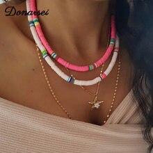Donarsei 2020 Новое модное 6 мм мягкое керамическое колье ожерелье