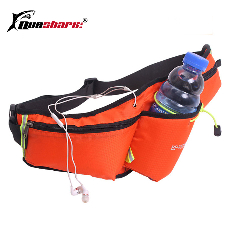Reflective Waterproof Waist Bag With Water Bottle Holder Running Waist Bag Sport Waist Pack Outdoor Marathon Waist Pouch 6-inch