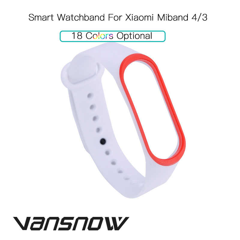 New-Arrival Bracelet Strap For Xiaomi Mi Band 4 3 Strap Smart Bracelet Replacement Silicone Strap For Xiaomi Mi Band4 3 Strap