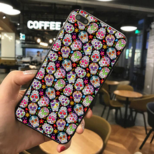 Case For iPhone X 6S 7 8 Plus XR XS max Skull print Black silicone cases custom phone case for Samsung galaxy s8 S7 S9 S10 PLUS phone camera lens 9 in 1 phone lens kit for iphone x xs max 8 7 plus samsung s10 s10e s9 s8