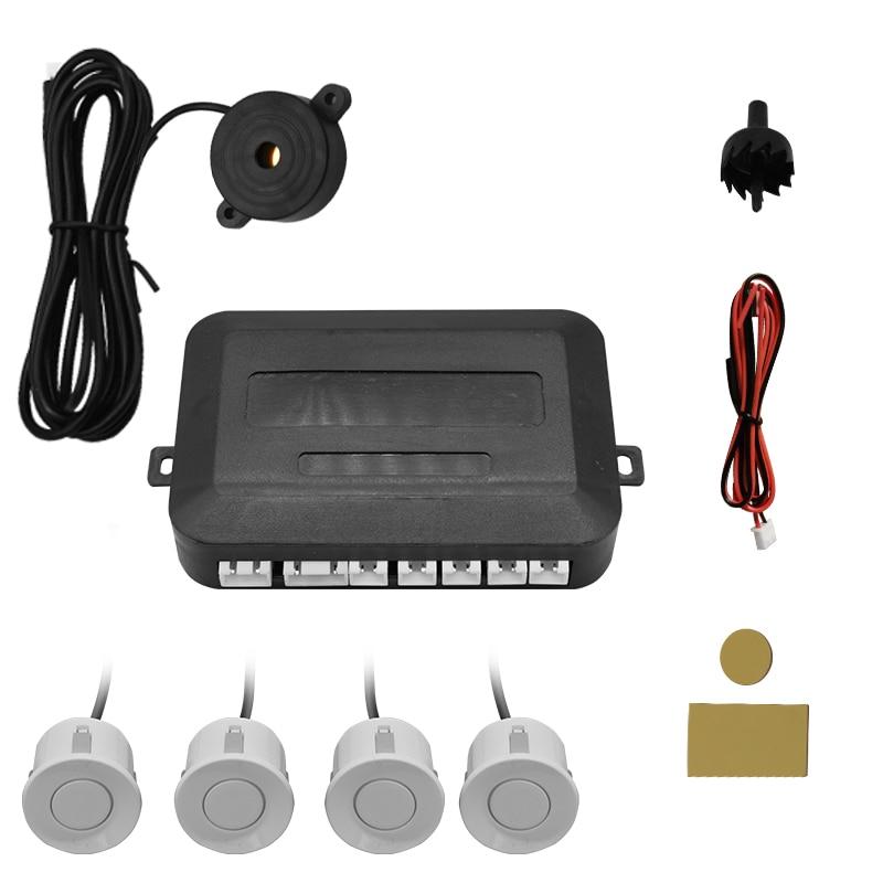 Car 4-Probe reversing sensor, pure buzzer, 22mm reversing radar, reversing radar warning tone, 12V voltage parking radar