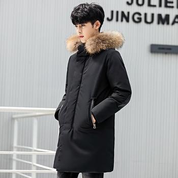 Men's White Duck Down Jacket Men Windbreaker cotton top Coat Male Parka Pluma Hombre Winter warm Down Jacket