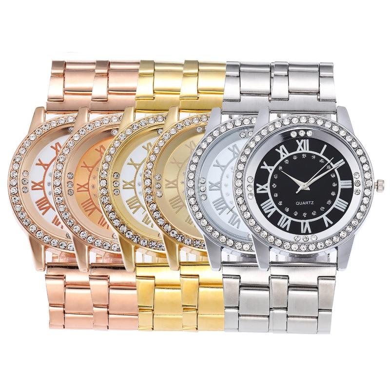 Geneva Classic Luxury Rhinestone Watch Women Watches Fashion Ladies Crystal Watch Women's Watch Clock Reloj Mujer zegarek damski