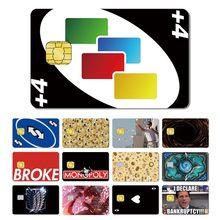 50 + estilos diferentes quebrou dinheiro crânio stonks poker adesivo filme fita pele para cartão de crédito cartão de débito grande chip pequeno