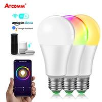 15W ampolla LED E27 WiFi lampadina intelligente per casa E14 B22 RGBW lampada WiFi intelligente alexa google lampada Echo Google Assistant