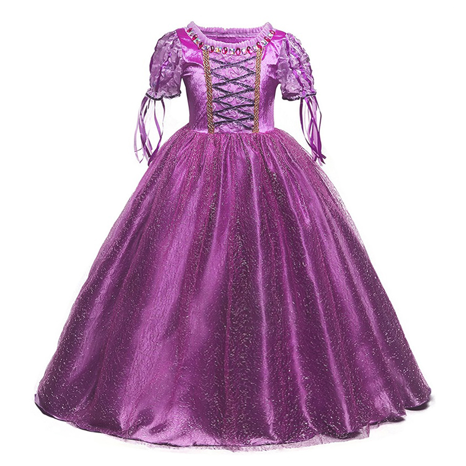 4 10 Years Girls Princess Party Girl Dress Kids Cosplay Dress Up Halloween Costumes For Kids Fancy Party Dress 5