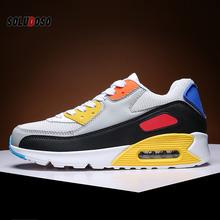 Breathable Lightweight Running Shoes Men Air Cushion Sneakers Max Size 47 Fitness Trainers Sports Shoes Women Outdoor Athletic men women running shoes classic mesh breathable lightweight sports sneakers athletic trainers