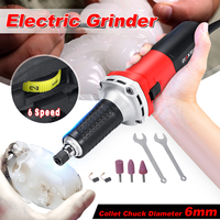 220V 600W Electric Die Grinder Accessories 6 Speed Regulating Portable Drill Grinding Machine Milling Polishing Rotary Tools
