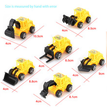 6 Styles Mini Engineering Car Tractor Toy Dump Truck Model Classic Toy Alloy Car Children Toys Engineering Vehicle cheap Plastic Gliding Do not approach the source of supply Unisex 4345-01 Wind Up 3 years old