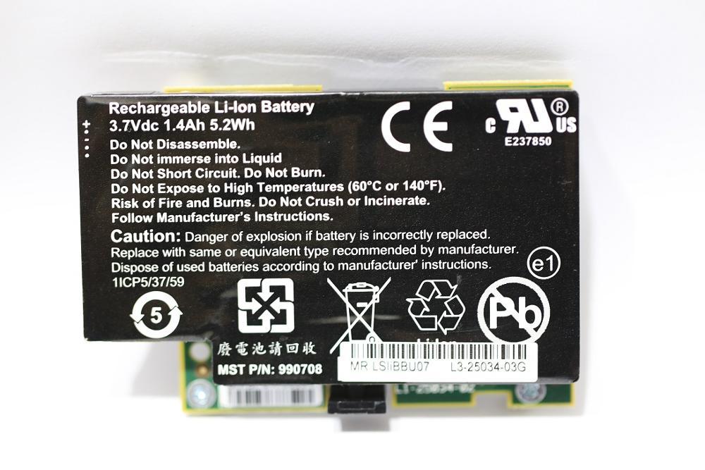 Original LSIIBBU07 LSI00161 BBU07 IBBU07 43W4342 Battery For 8880EM2 9260-XX 9261-XX 9280-XX AND 9750-XX Well Tested Refurbish