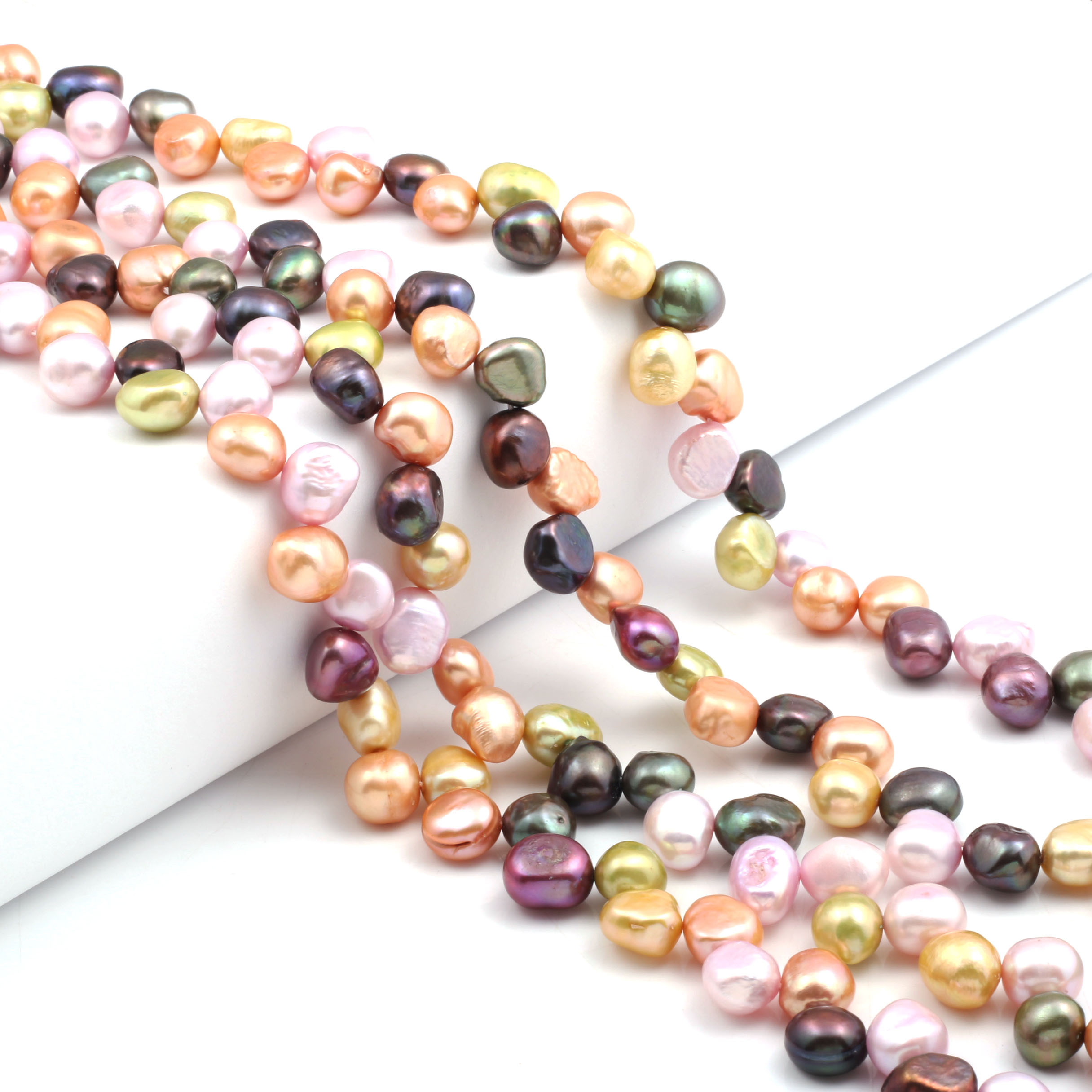 Natural Freshwater Pearl Beads High Quality 36cm Color mixing irregular Punch Loose Beads DIY Necklace Bracelet Jewelry Making