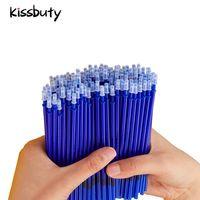 100 Pcs/Set Büro Unterschrift Shool Gel Stift Refill Rod Magic Löschbaren Stift Refill Zubehör 0,5mm Blau Schwarz tinte Schreiben Werkzeuge