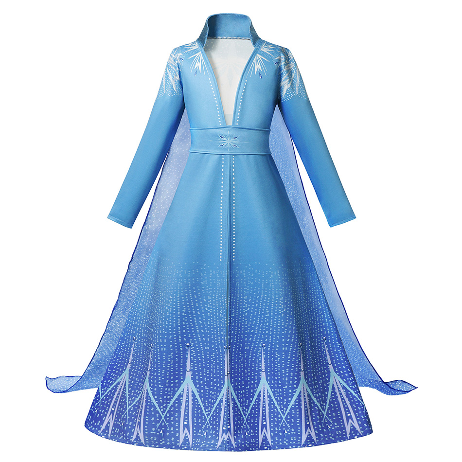 He04fe000779243628e4517b5c11a790dS - Fancy Baby Girl Princess Clothes Kid Jasmine Rapunzel Aurora Belle Ariel Cosplay Costume Child Elsa Anna Elena Sofia Party Dress