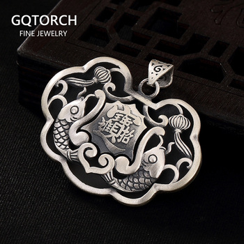 Pure 990 Sterling Silver Jewelry Lucky Treasures Pisces WishfulPendant Gifts For Women Fine Jewelry Pendulum