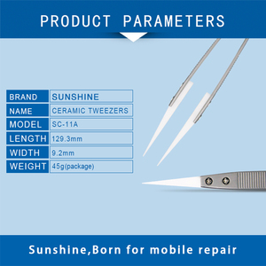 Image 4 - SUNSHINE SC 11A Ceramic Tweezers Flying Lead IC Components Dedicated White