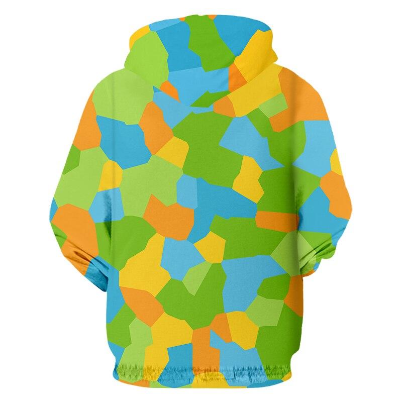 Ipfd eu/us размер 3d толстовки с капюшоном на молнии цветные