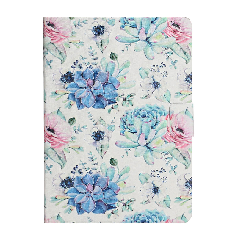 blue flower Blue Case for iPad 7th Generation Case Flower Painted Cover Funda for Apple iPad 10 2 2019