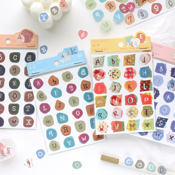 3Sheets/PACK Kawaii Cute Number Letter Sticker Marker Planner Diary Stickers Scrapbooking Bullet Journal School Supplies sl2569 custom logo vintage scrapbook journaling stickers cute aesthetic kawaii bullet journal diary decoration planner sticker flakes