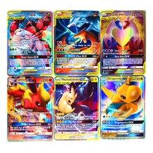 TAKARA TOMY – cartes brillantes Pokemon GX EX MEGA pour enfants, jeu de combat, échange, jouets, cadeaux de noël