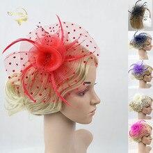 Новый дизайн чистый свадебные головные уборы аксессуары для волос дамы и fascinators ручной работы цветы свадебный головной убор