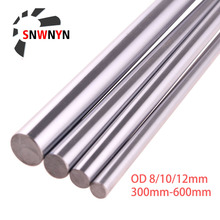 2PCS Optical Axis OD 8mm 10mm 12mm Length 300mm - 600mm Linear Shaft Cylinder Linear Rail Smooth Round Rod For 3D Printer Parts 2pcs bag japan potentiometer b200 european x2 axis length 25 round shaft