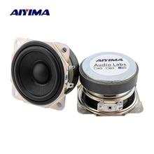 AIYIMA 2Pcs 2,5 Zoll Audio Vollständige Palette Mini Lautsprecher Einheit 8 Ohm 10W DIY Sound Musik Lautsprecher Gummi rand Lautsprecher Heimkino