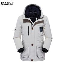 BOLUBAO moda mężczyźni ciepłe parki płaszcze zimowe męskie zagęścić jednolity kolor Casual kurtka z kapturem odzież męska wysokiej jakości parki tanie tanio COTTON 1 4KG REGULAR Na co dzień STANDARD NONE Stałe zipper Parkas Suknem