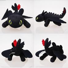 25cm Nacht Fury Plüsch Spielzeug Wie Trainieren sie Ihre Dragon Zahnlos Füllte Spielzeug Weiche Baumwolle Tier Plüsch Puppen für kinder Kinder Geschenke