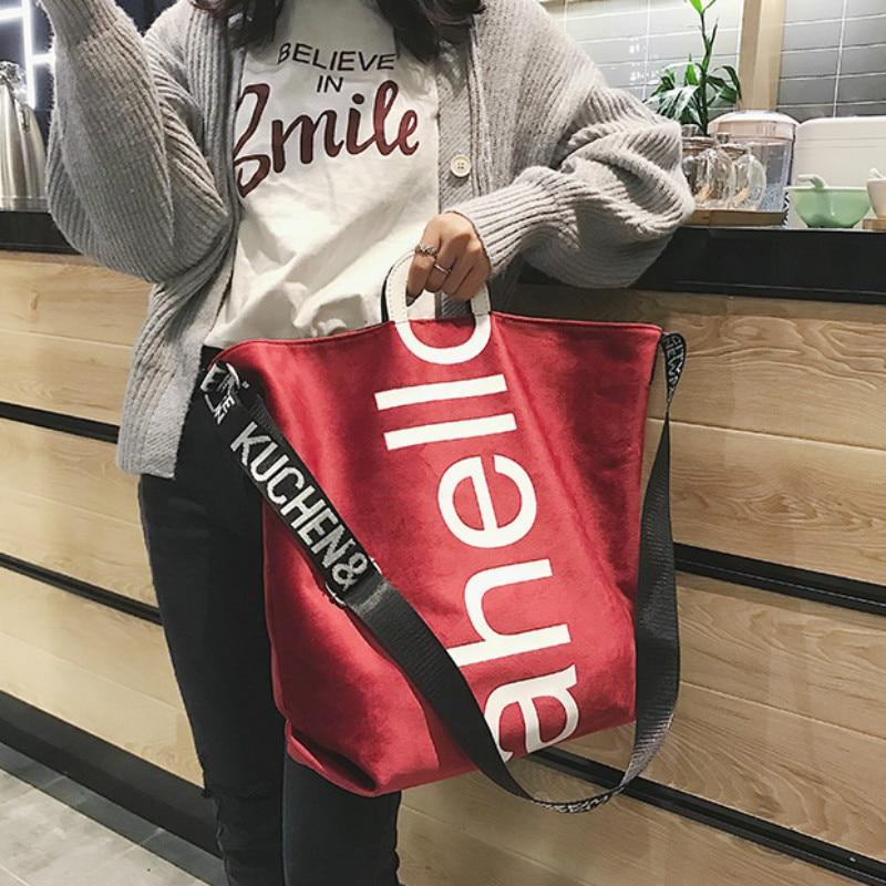 Fashion Women Handbag New Women's Shopping Bags Female Letter Crossbody Bags Women Large Capacity Shoulder Bag