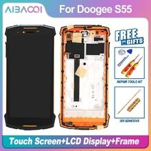 AiBaoQi חדש מקורי 5.5 אינץ מגע מסך + 1440x720 LCD תצוגת עצרת החלפת Doogee S55/S55 לייט טלפון