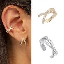 925 Sterling Silver Ear Cuff For Women 1 pcs Charming Zircon