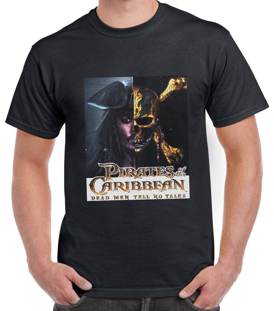 Pirates of the Carribean Movie 2017 Dead Men Tell No Lie Mens Tee Shirt Top AK77