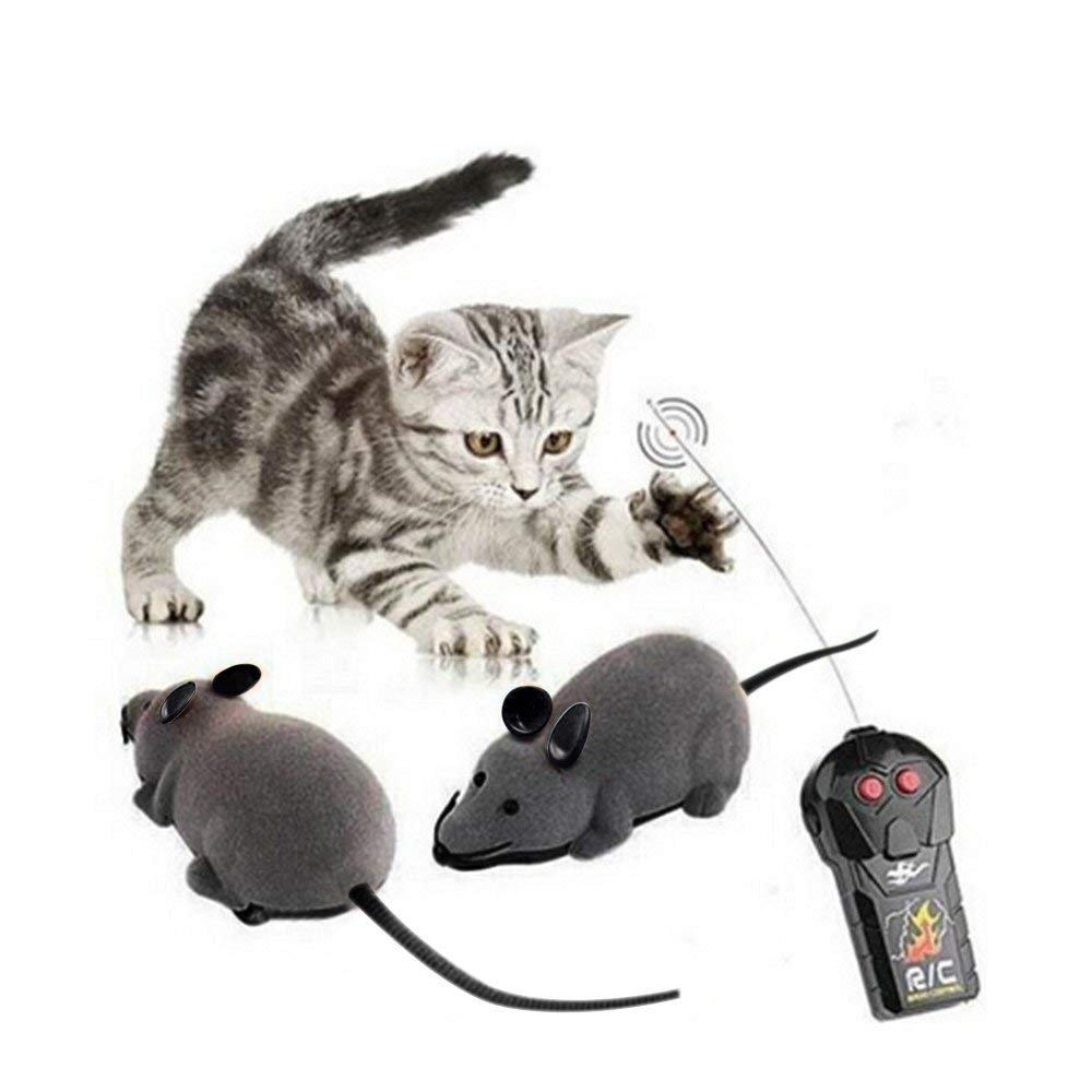 Wireless Remote Control Mock Fake Rat Mouse Mice RC Radio Toys Prank Joke Scary Trick Bugs For Party And For Cat Puppy Funny Toy
