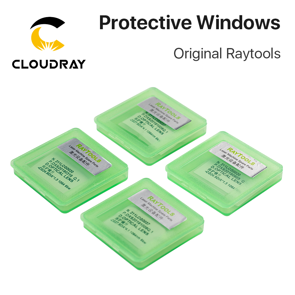 Cloudray Original Raytools Protective Windows Laser Optical Protective Lens For Raytools Fiber Laser Head