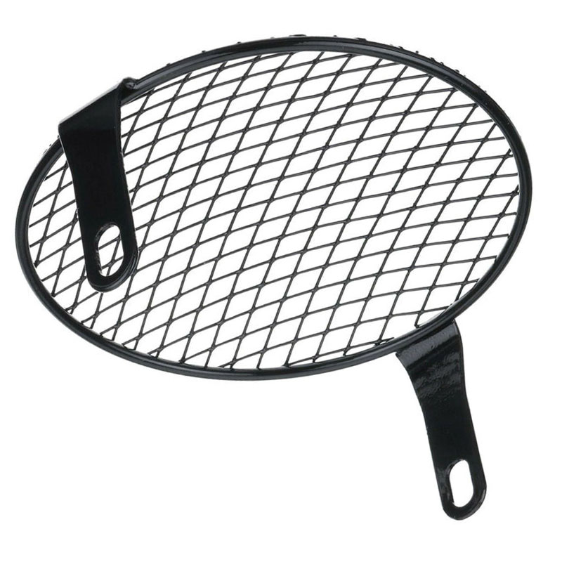 Motorcycle Black Rhombus Headlight Mesh Protector Cover Grill 170mm Replacement Rhombus Headlight Mesh Cover