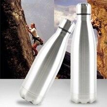 Прочная вакуумная Изолированная бутылка для воды из нержавеющей стали, дорожная кофейная кружка, бутылка для чая, для улицы, офиса, кемпинга, стакан, может j1