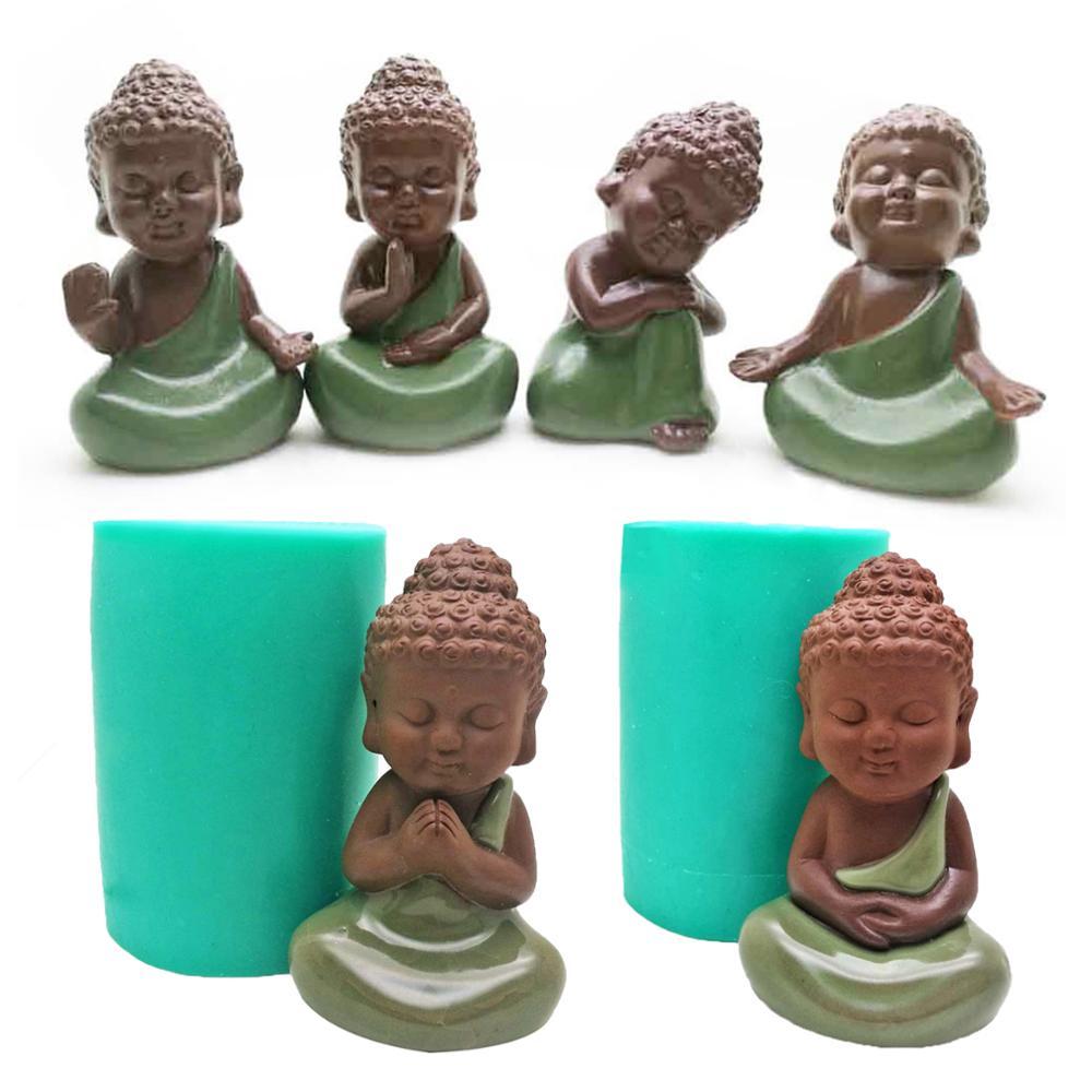 3D Buddha Statu Silicone Mold Handmade Candle Mold Buddha Statue Soap mould Baking Decorative Cake Tools Aromatherapy Art Mold