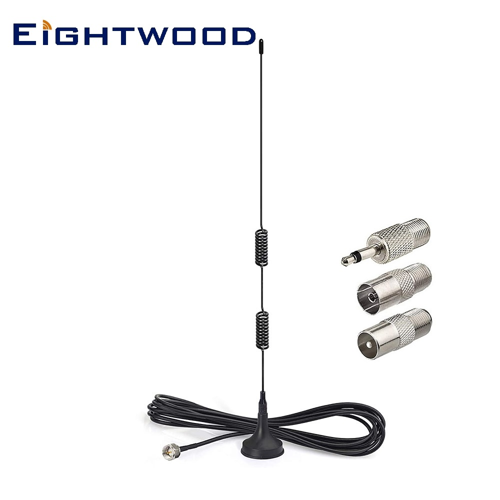 Eightwood fm antena de rádio f macho para denon pioneer onkyo yamaha marantz av áudio vedio receptor de cinema em casa sintonizador