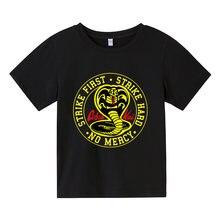 Men's Karate Children's T-Shirt Cobra Kai T-Shirt Pattern Cute Men's Classic High Quality Cotton Clothing Anime Casual Top