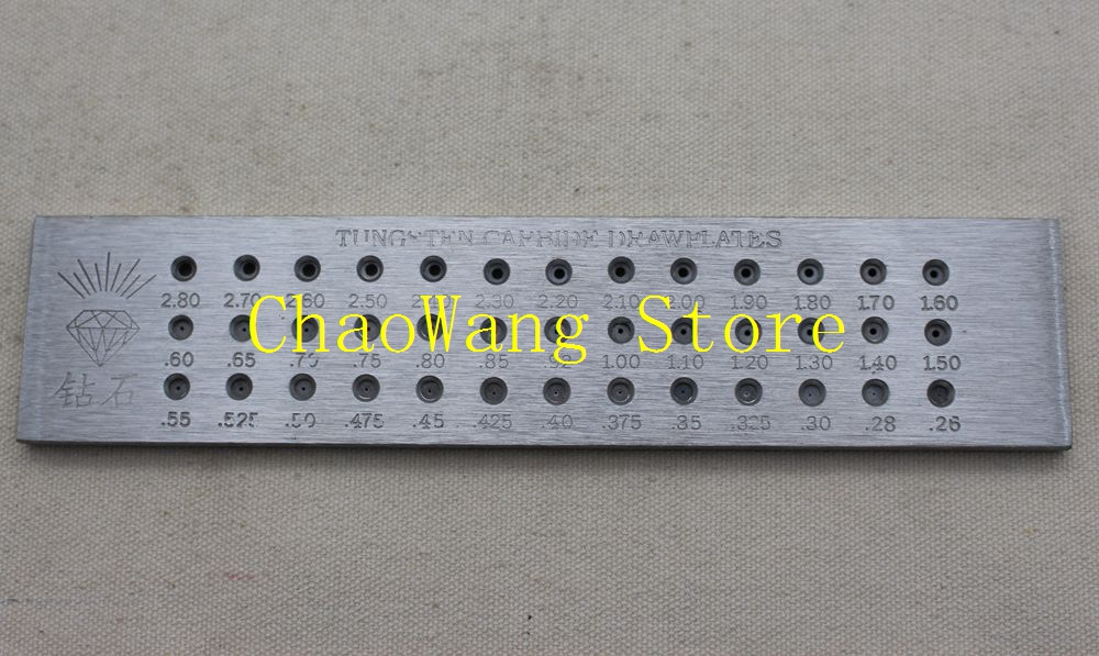 0.26-4.1mm Diamond Brand Tungsten Carbide Wire Drawplate For Jewelry Making Round Shape Drawplate