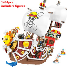 NEUE ONE PIECE Affe D. Luffy Thousand Sunny Piraten Schiff Bausteine Bricks Classic Modell Kinder Spielzeug Kompatibel(China)