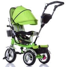 Детский трехколесный велосипед с поворотным сиденьем и обратной