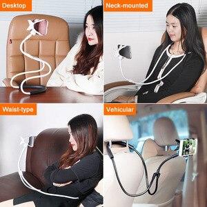 Image 4 - Support de support pliable de bâti Flexible portatif universel de support de téléphone Portable de cou de bras Long