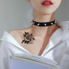 Ras du cou en cuir pour femmes, Punk Rock gothique, Harajuku, noir, collier, déclaration, bijoux, accessoires de fête