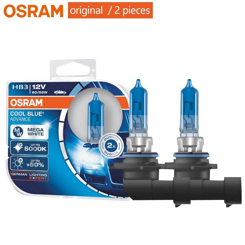 2x HB4 50/% 5000K MEGA WHITE OSRAM COOL BLUE ADVANCE Headlight Duo Bulbs 9006CBA