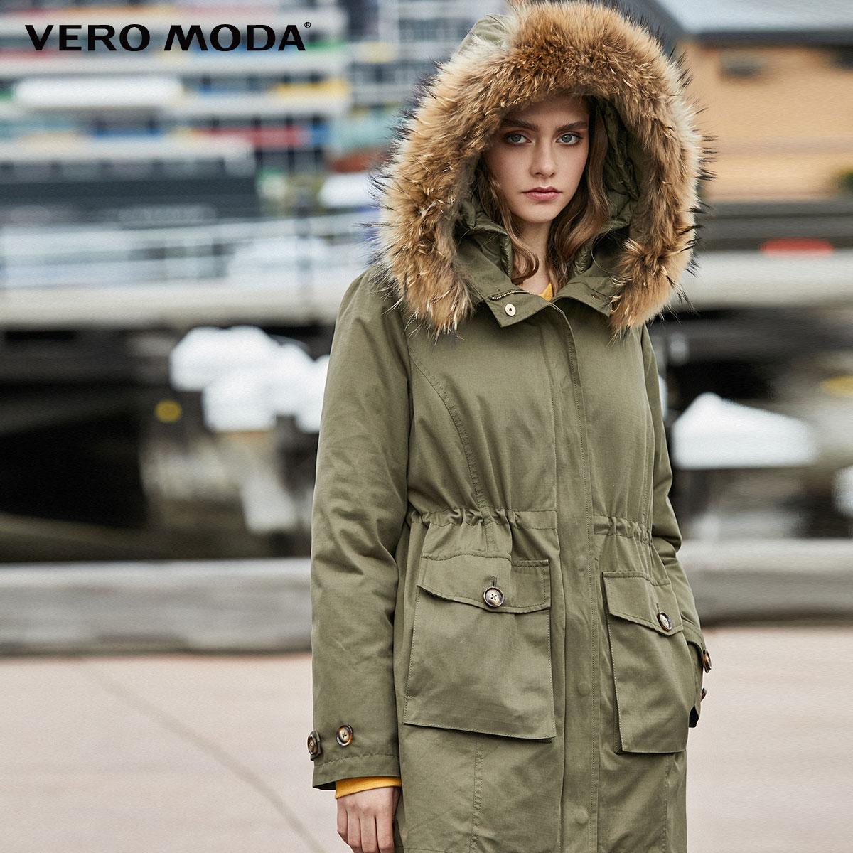 Vero Moda Detachable Lining Fur Collar Parkas   Coat     Down   Jacket   319423517