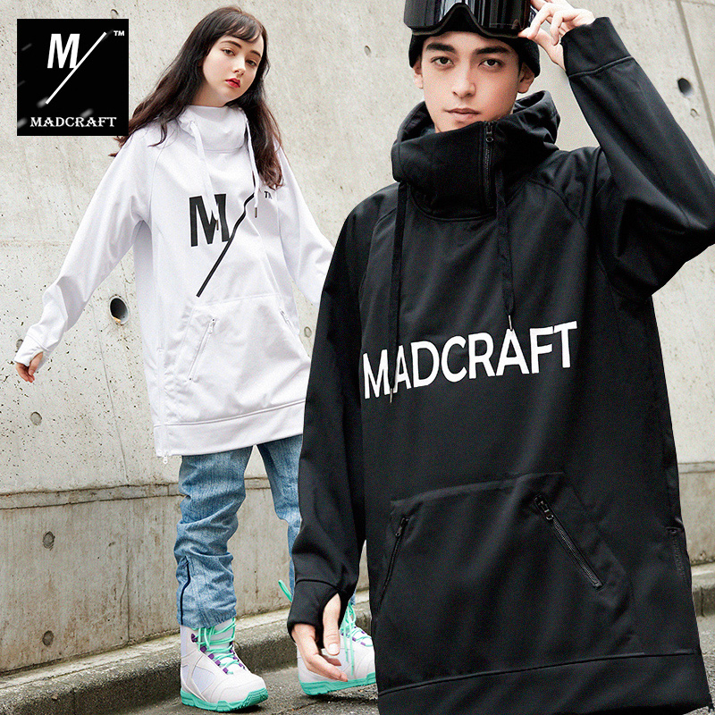 2018 New Winter Casual Hoodies Men Hoody For Ski Snowboarding Long Sleeve Woman Pullovers Loose Fit Hooded Waterproof Windproof