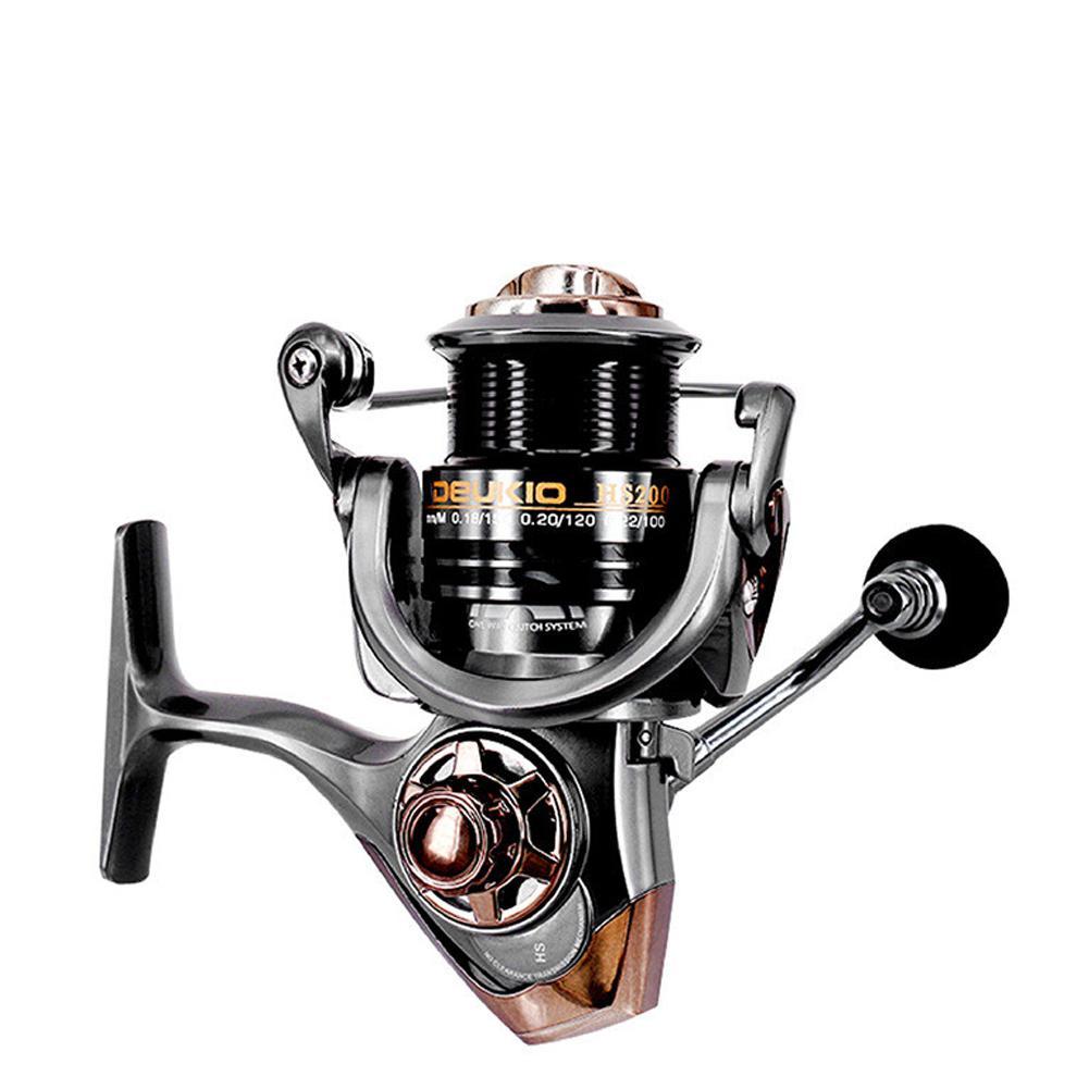 HiMISS Fishing Reel Line Aluminum Alloy 5+1BB High-speed 7.1:1 Fishing Reel Bait Casting Reel Right Left Hand Bait Casting Reel
