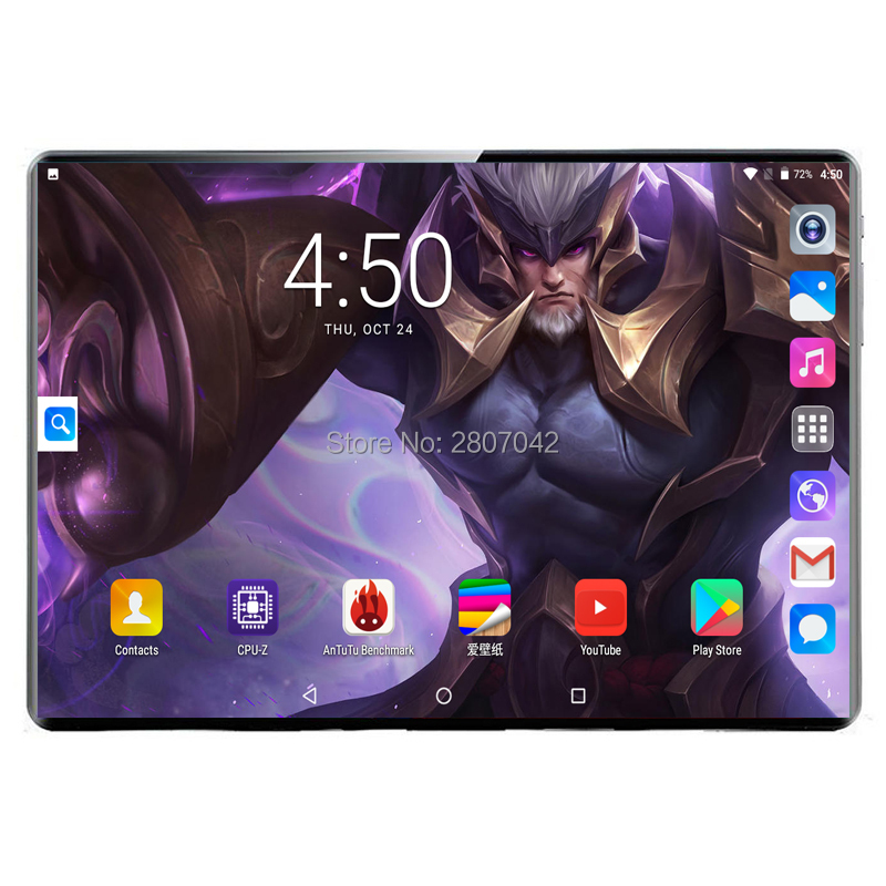 2020 Global 3G 4G LTE 10.1 Inch Tablet PC Android 9.0 Deca Core RAM 8GB ROM 128GB Smart Phone Dual SIM Card WIFI GPS 10